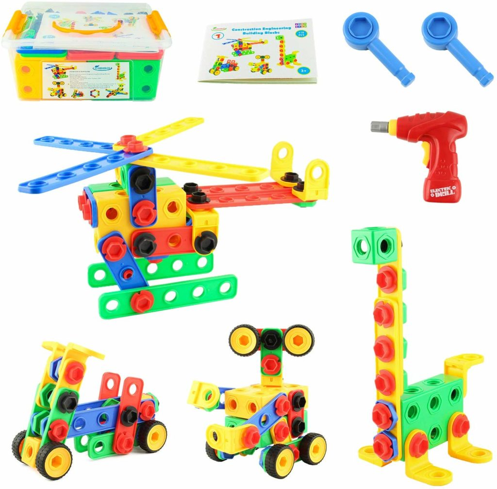 Toddlers Educational Construction Engineering Building Blocks Set - Top Toys and Gifts for Three Year Old Boys 1