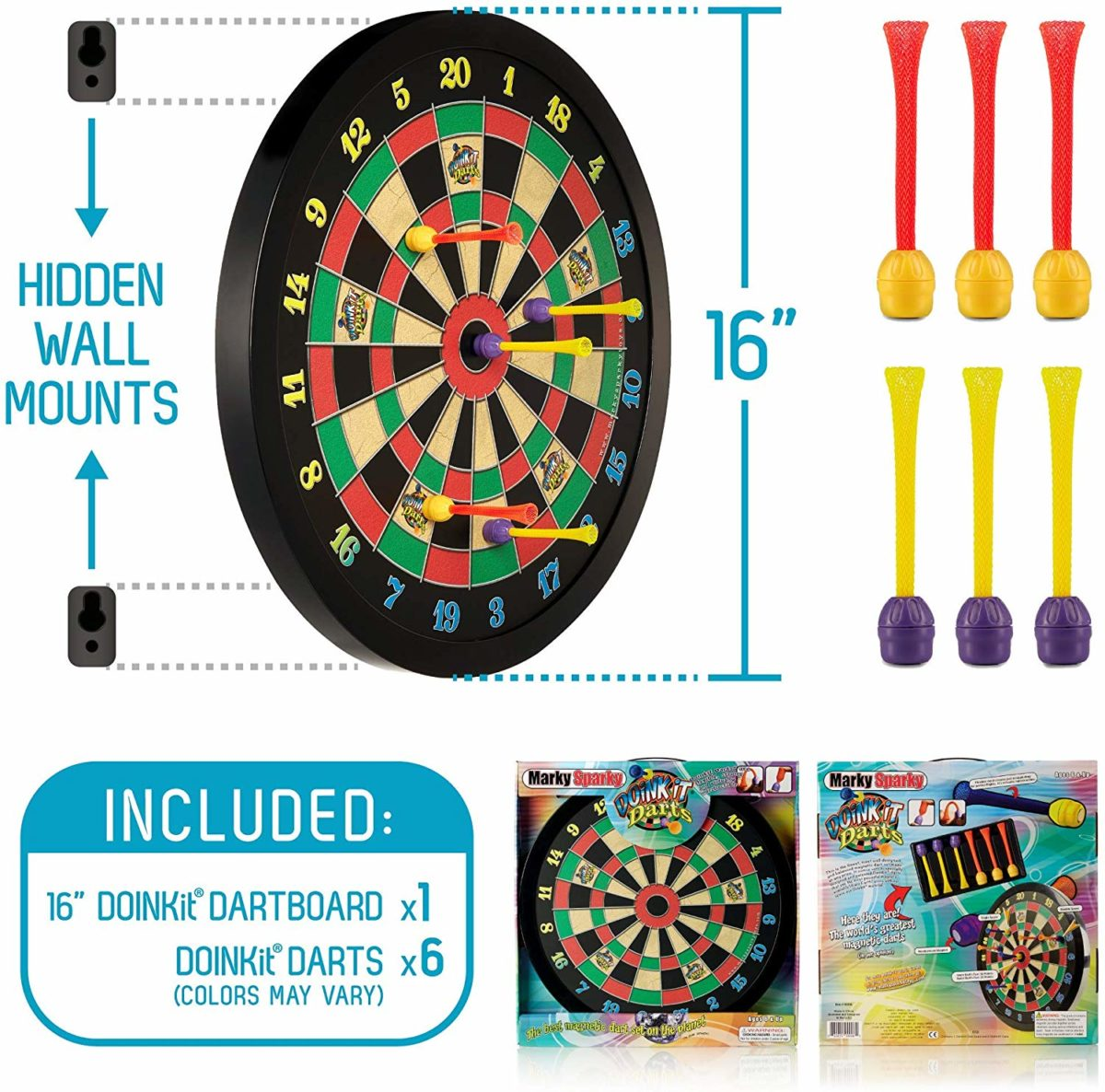 Doinkit Darts Kids Magnetic Dart Board - Top Toys and Gifts for Seven Year Old Boys 2