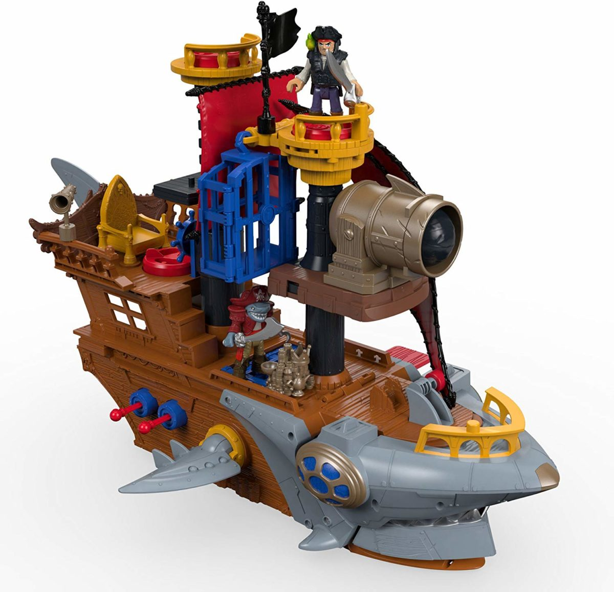 Fisher-Price Imaginext Shark-Bite Pirate Ship - Top Toys and Gifts for Four Year Old Boys 2