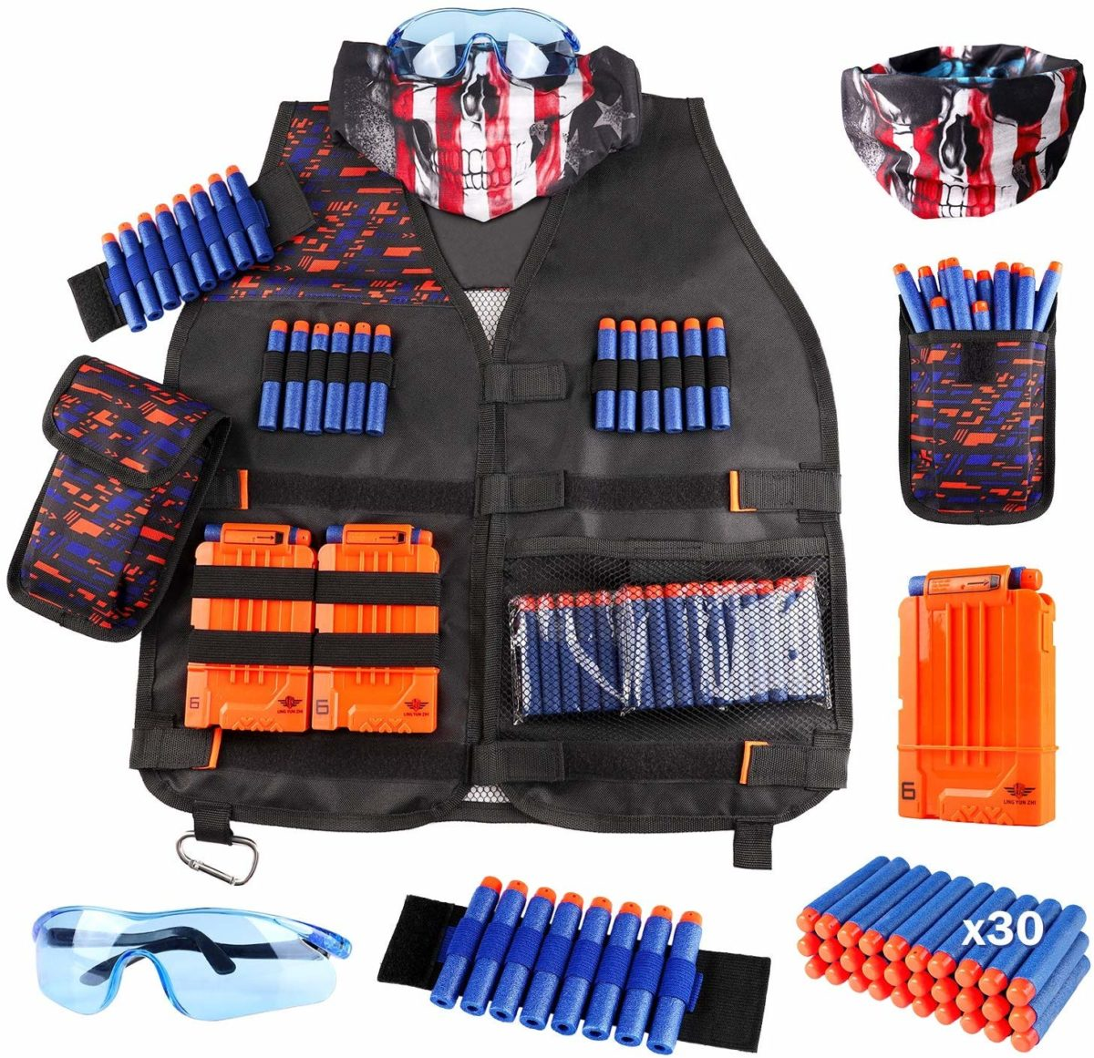 Kids Tactical Vest Kit for Nerf Guns-N-Strike Elite Series - Top Toys and Gifts for Seven Year Old Boys 1
