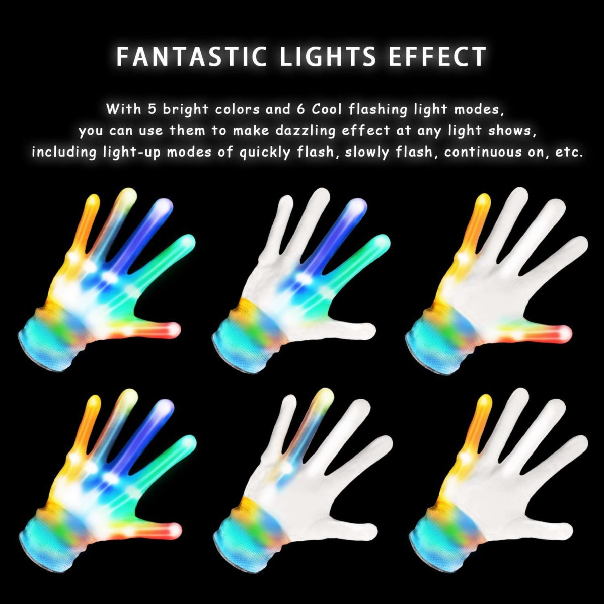 Maoxian Flashing LED Gloves - Top Toys and Gifts for Seven Year Old Boys 2