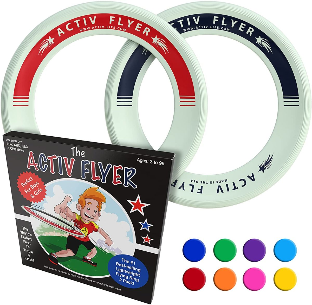 Activ Life Kid's Flying Rings - Top Toys and Gifts for Nine Year Old Boys 1